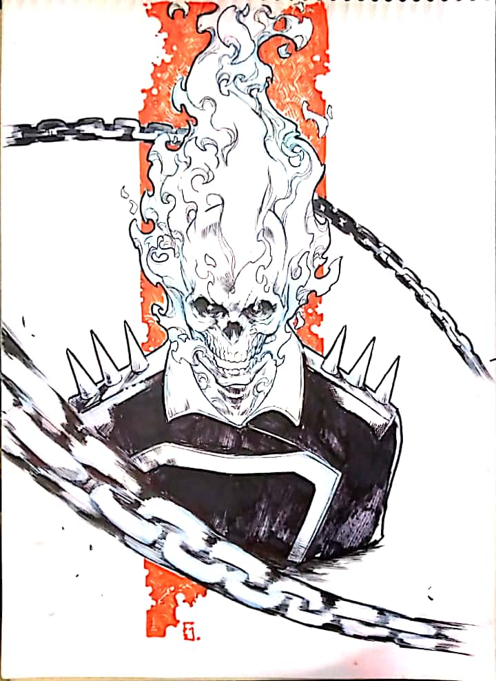 sketch ghost rider - usd 90