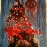 illustration black manta - watercolors - usd 85