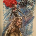 aquaman illustration - watercolors - usd 90