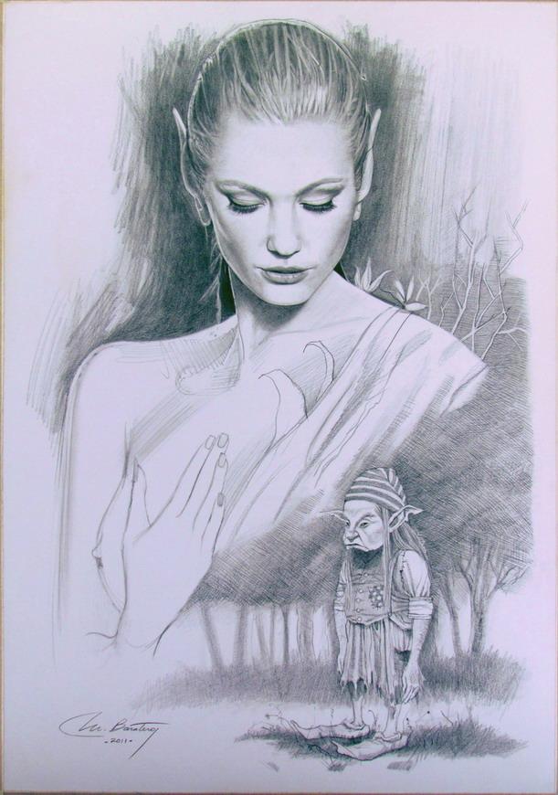 La Dama Verde - 50 x 35 cm - usd 200