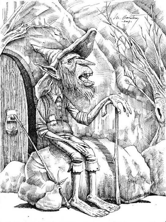 Leprechaun - 32 x 24cm - usd 100