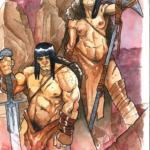 acuarelas Conan - usd 120