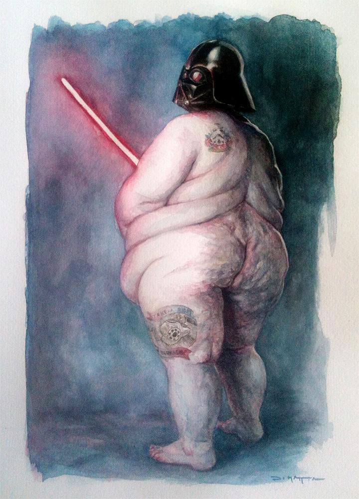 fatvader A4 - watercolor