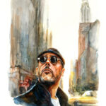 leon - A4 - watercolor