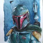 boba fett - A5 - Watercolor - usd 200