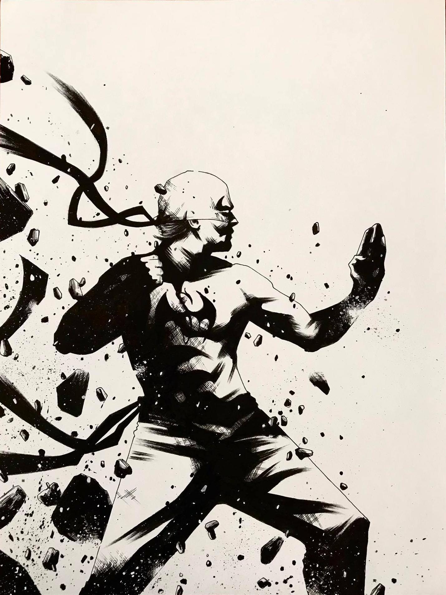 Iron fist 9x12 – usd 110