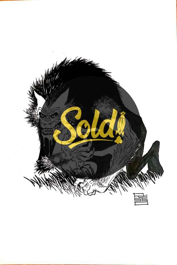 sketch lobo moonshine - sold