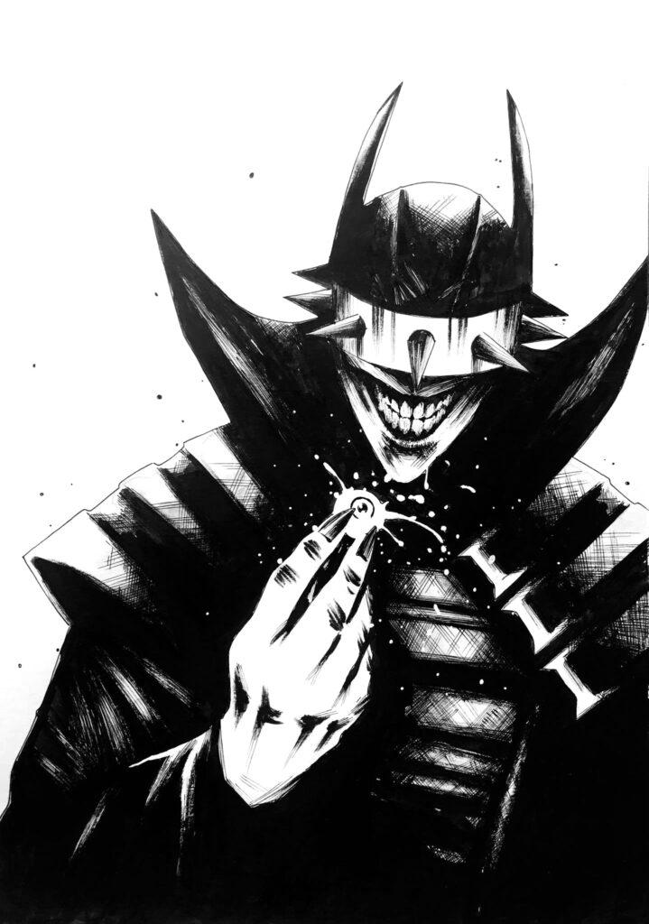 batman who laughs - Ink -   A4 -  260 gr Bristol paper -  usd 130