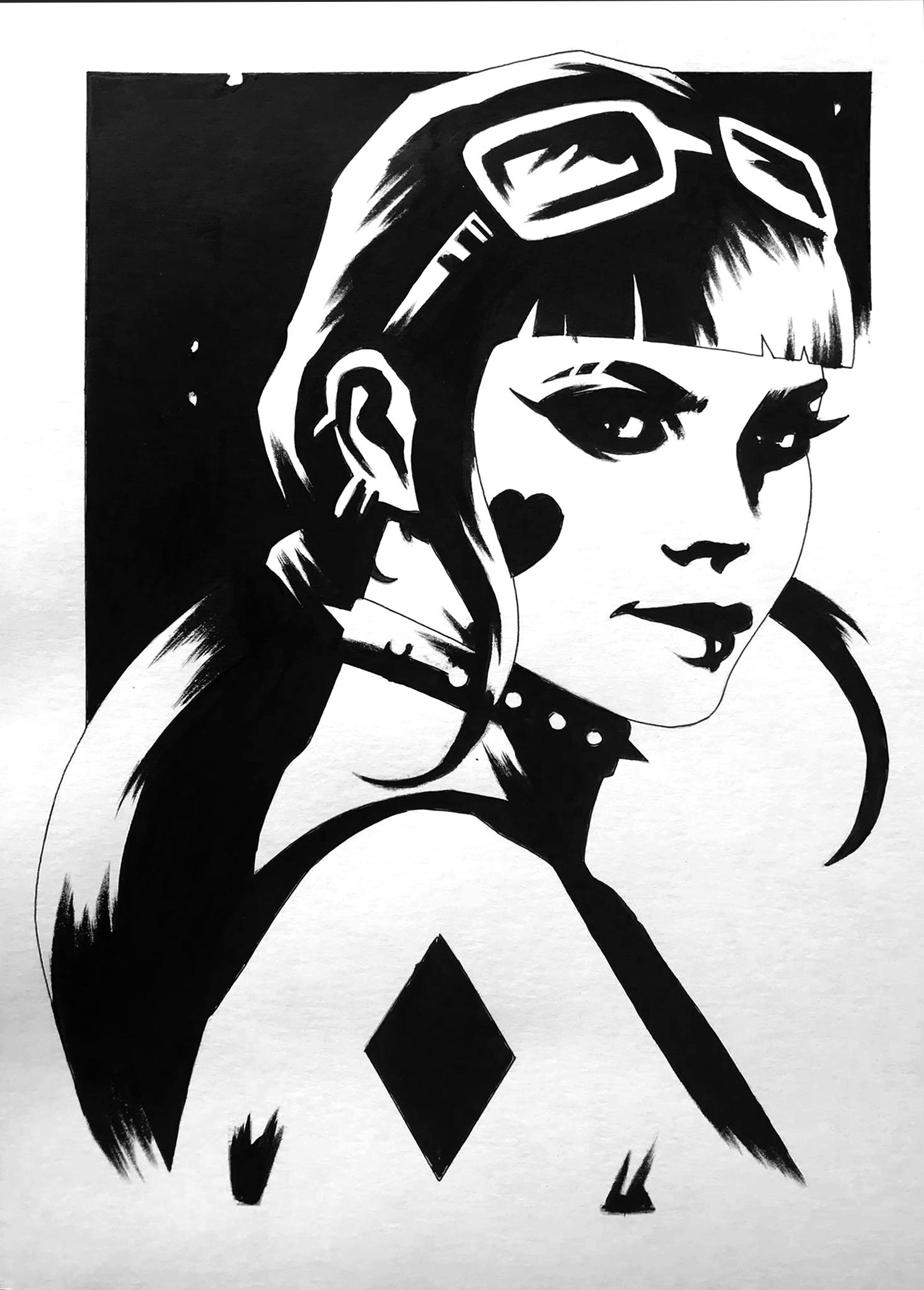 Harley Quinn  Ink  - A4 - 260 gr Bristol paper - usd 100