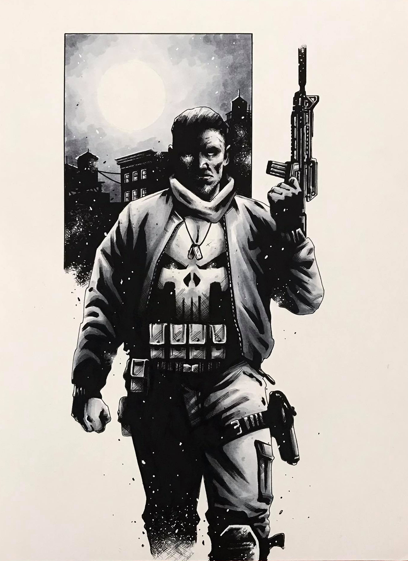 the punisher  Ink + Copic -  A4 - 260 gr Bristol paper - usd 200
