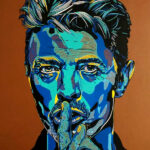 David Bowie - 30x40cm tinta y acrílico sobre bastidor de madera - usd 250