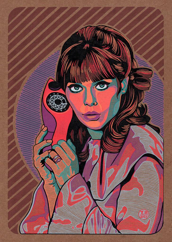 Agente 99 - 21x30cm  tinta a color sobre papel kraft 220g - usd 120